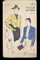 1940s Vogue 7625 Short Box Jacket