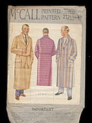 1931 McCall 2726 Men's Lounging Robe Sewing Pattern