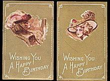 2 1910 Cobb Shin Ladies with Hats Postcards