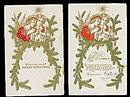 2 1907 Christmas Angels Postcards