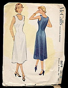 1951 McCalls 8674 Womens Slip Sewing Pattern