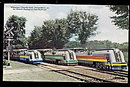 1907 Miniature Chrysler Streamliners (Trains) Postcard