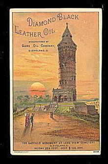 1890s Diamond Black Leather Oil Trade Card