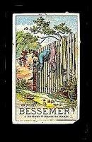 1889 Bessemer Base Burner Victorian Trade Card