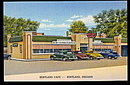 Kentland, IN, Kentland Cafe with Cars 1940s Postcard
