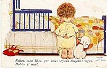 'Faites, mon Dieu......' Mabel Lucie Attwell Postcard