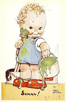 """1920s """"Sonny!.."""" Mabel Lucie Attwell Postcard"""
