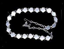 """1950s CORO 17"""" Blue Lucite Squared Necklace"""