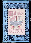 Alma Lynne 'Babies are a Blessing' Cross Stitch Pattern