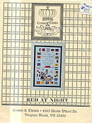 'Red at Night' Lighthouse Sampler Cross Stitch Pattern