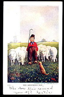 1905 Ullman 'The Shepherd Boy' Bernhardt Wall Postcard