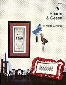 'Hearts & Geese' Cross Stitch Sampler Pattern