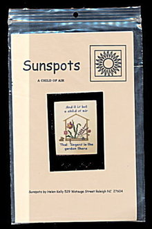 'A Child of Air' Sunspots Cross Stitch Pattern - Floral