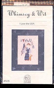 Whimsey & Wit 'I Love the USA' Cross Stitch Pattern