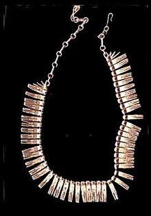 "1950s CORO 17"" Goldtone Dangle Fringe Necklace"