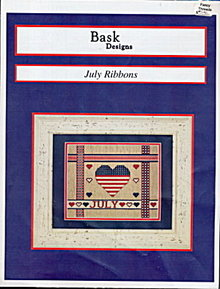 Bask Designs 'July Ribbons' Patriotic Cross Stitch