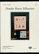 'Powder Room Silhouettes' Sampler Cross Stitch Pattern