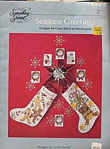 'Seasons Greetings' Christmas Cross Stitch Pattern