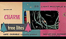 1940s Christmas Charm C-6 Lites in Box
