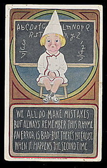 1912 'We All Make Mistakes..' Child Postcard