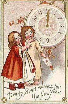 Tucks New Years No.145 Children 1908 Postcard
