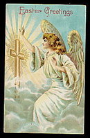 Easter Greetings Angel 1910 Postcard
