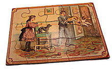 """Early 1900s """"Training the Dog"""" Puzzle"""