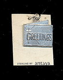 "Sterling Silver ""Greetings"" Charm, Antaya"