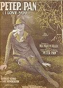 1924 'Peter Pan' Miss Marilyn Parker Sheet Music