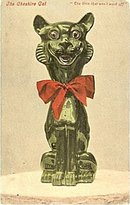 'The Cheshire Cat' - Grin that Wont Quit 1910 Postcard