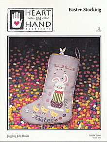 'Juggling Jelly Beans' Easter Stocking Cross Stitch