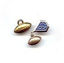 2 Vintage Goldtone Metal Football Pin & Pendant