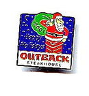 2001 Outback Steakhouse Santa Claus Pin Pinback
