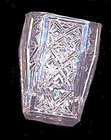 "Vintage 2 1/4"" Pressed Glass Toothpick Holder"