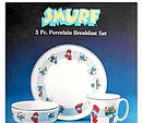 1982 Smurf 3 Piece Breakfast Set in Box