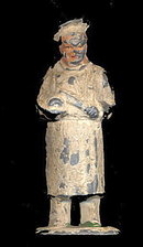 (B110) Barclay Cook Holding Roast Figure