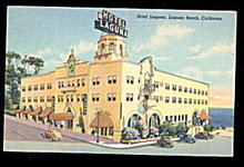 1948 Laguna Beach, CA, Hotel Laguna Postcard