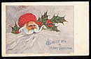 Signed Artist Santa Claus 1907 Postcard