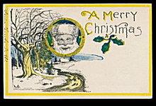 Great 'A Merry Christmas' Santa Claus 1906 Postcard