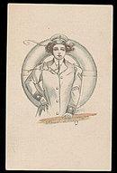 Lovely Artist Sailor Girl 1915 Postcard