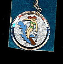 Sterling Silver Water Skiing Charm ca 1950s
