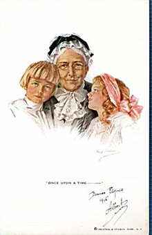 Philip Boileau 'Once Upon a Time' Grandmother Postcard