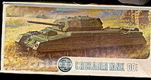 1972 Airfix 1/72 HO/O Crusader Tank Kit in Box