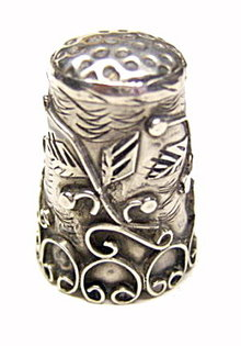 Taxco Mexico Sterling .925 Floral Thimble