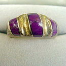 Large Mexico .925 Sterling with Purple Ladies Ring