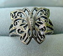 Early .925 Sterling Silver Butterfly Ring