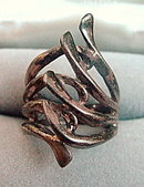 """Early .925 Sterling Silver  """"Twigs"""" Ring"""