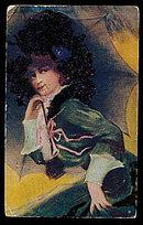 Lovely Lady Under Umbrella 1908 Postcard