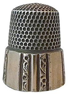 1880s Simons 59 Sterling Silver Thimble