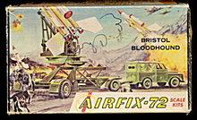 1960 Airfix Bristol Bloodhound Model Kit - Complete